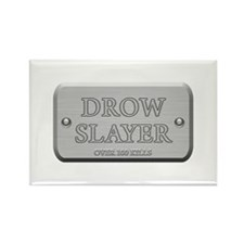 Brushed Steel - Drow Slayer Rectangle Magnet