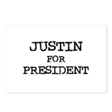 Justin for President Postcards (Package of 8)