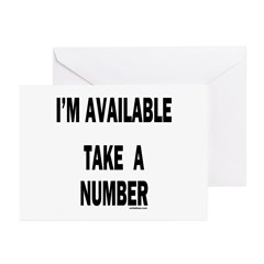 I'M AVAILABLE Greeting Cards (Pk of 20)