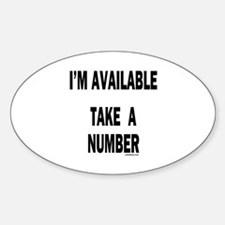 I'M AVAILABLE Oval Decal