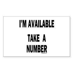 I'M AVAILABLE Rectangle Decal