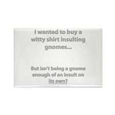 Insulting Gnomes Rectangle Magnet