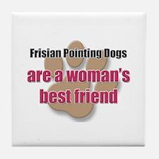 Frisian Pointing Dogs woman's best friend Tile Coa