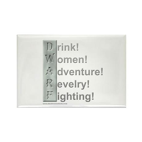 D.W.A.R.F. (Pro) Rectangle Magnet