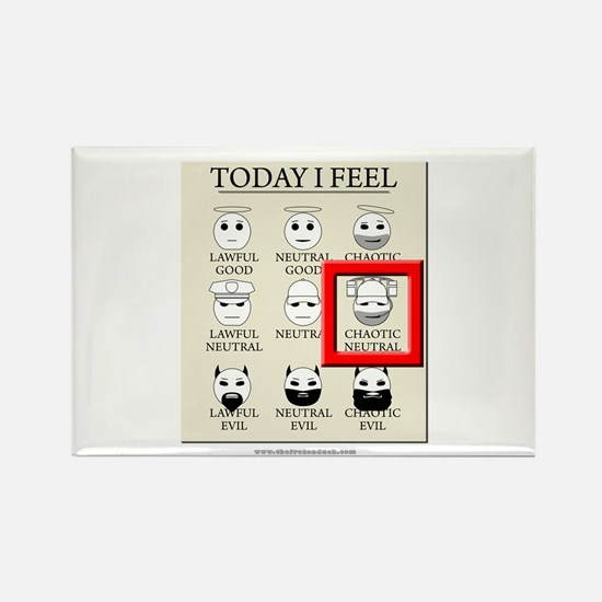 Today I Feel - Chaotic Neutra Rectangle Magnet