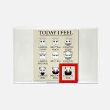 Today I Feel - Chaotic Evil Rectangle Magnet