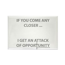 Attack of Opportunity Rectangle Magnet