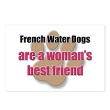 French Water Dogs woman's best friend Postcards (P