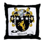 Wilson Family Crest Throw Pillow