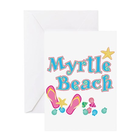 Myrtle Beach Flip-Flops - Greeting Card