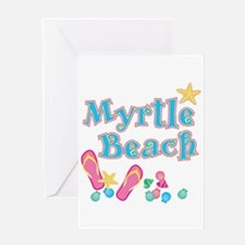 Myrtle Beach Flip-Flops - Greeting Card