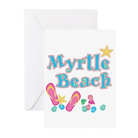 Myrtle Beach Flip-Flops - Greeting Cards (Pk of 10