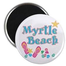 Myrtle Beach Flip-Flops - Magnet