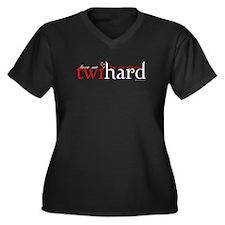 Twihard Women's Plus Size V-Neck Dark T-Shirt