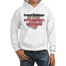 French Bulldogs woman's best friend Jumper Hoody