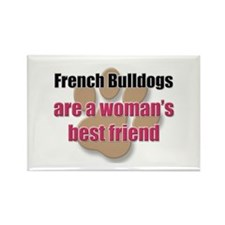 French Bulldogs woman's best friend Rectangle Magn