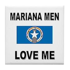 Mariana Men Love Me Tile Coaster