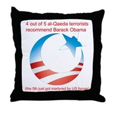 4 out of 5 Terrorists Throw Pillow