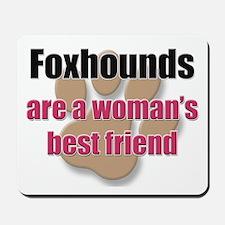 Foxhounds woman's best friend Mousepad