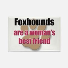 Foxhounds woman's best friend Rectangle Magnet (10