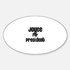 Joyce for President Oval Decal