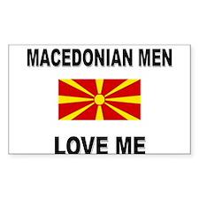 Macedonian Men Love Me Rectangle Decal