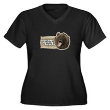 Irritable Grizzly Women's Plus Size V-Neck Dark T-