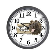 Irritable Grizzly Wall Clock