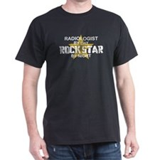 Radiologist Rock Star by Night T-Shirt