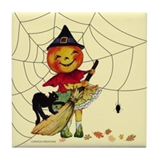 Jack-O Sweeper - Tile Coaster