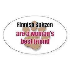Finnish Spitzen woman's best friend Oval Decal