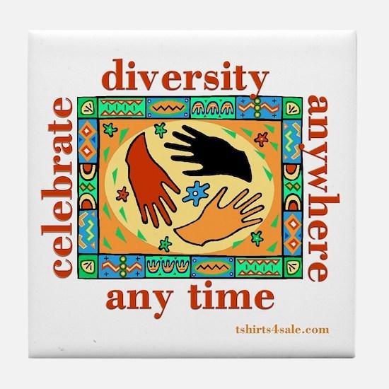 DIVERSITY PEOPLE Tile Coaster
