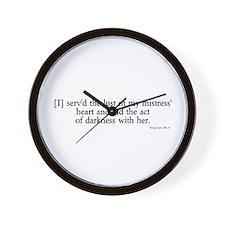 act of darkness Wall Clock