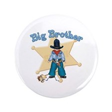 "Lil Sheriff Big Brother 3.5"" Button"