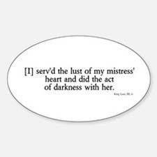 act of darkness Oval Decal