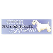 Sealyham Terrier Rescue Bumper Car Sticker