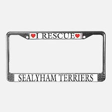 Sealyham Terrier Rescue License Plate Frame