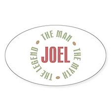 Joel Man Myth Legend Oval Decal