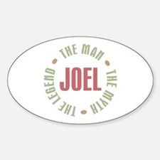 Joel Man Myth Legend Oval Decal