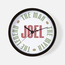 Joel Man Myth Legend Wall Clock