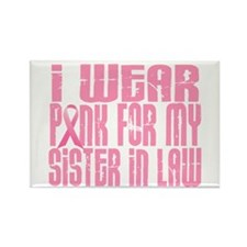 I Wear Pink For My Sister-In-Law 16 Rectangle Magn
