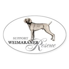 Weimaraner Rescue Oval Decal