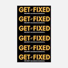 Get Fixed sticker sheet (small)