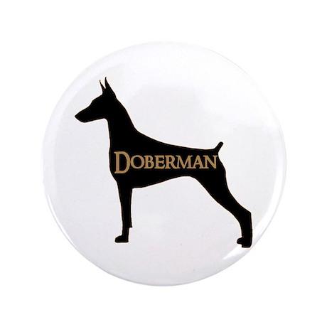 """Doberman 3.5"""" Button"""