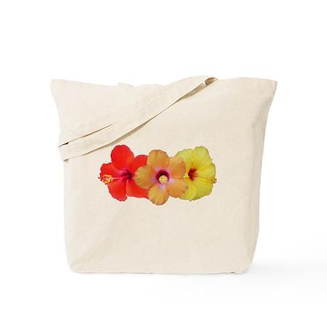 Hibiscus Trio Tote Bag