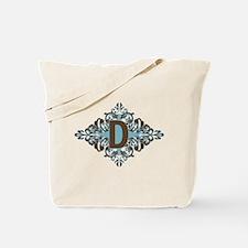 D Monogram Letter D Tote Bag