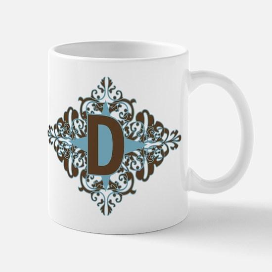 D Monogram Letter D Mug