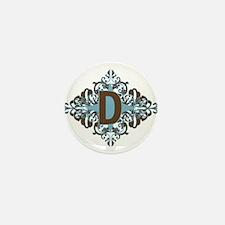 D Monogram Letter D Mini Button (100 pack)