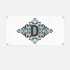 D Monogram Letter D Banner