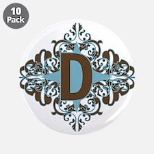 """D Monogram Letter D 3.5"""" Button (10 pack)"""